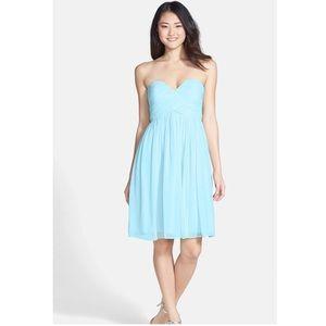 Strapless chiffon dress